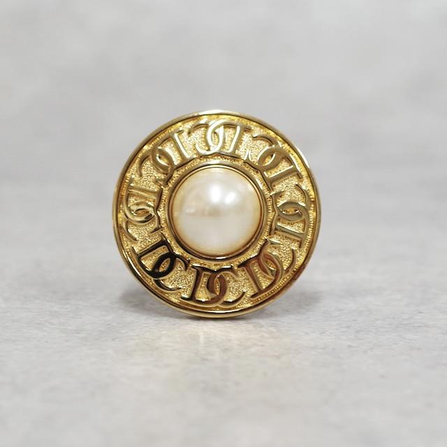 Christian Dior ディオール ブローチ パール ゴールド