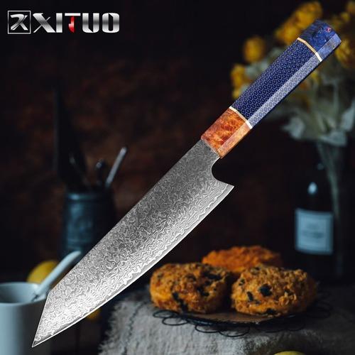 ダマスカス包丁 【XITUO 公式】 牛刀 刃渡り21cm VG10 ks20102808