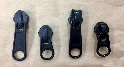 YKK スライダー 止水ファスナー アクアガード用  黒/カラー 5c DFL (引手長め) つやなし/つやあり 10個入り