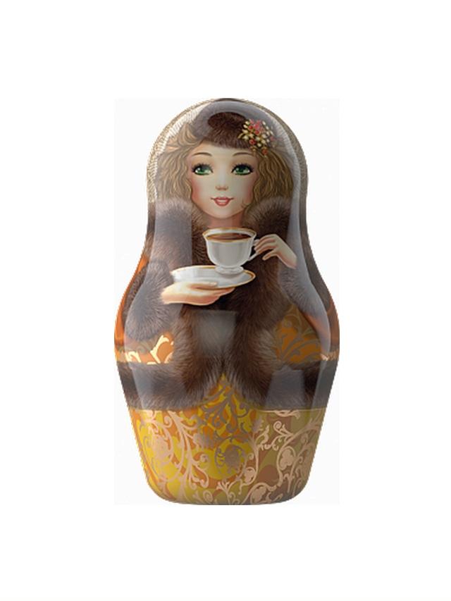 【インポート商品】マイスキー マトリョーシカ缶 セイロン紅茶 30g (リーフ) ブラウン色