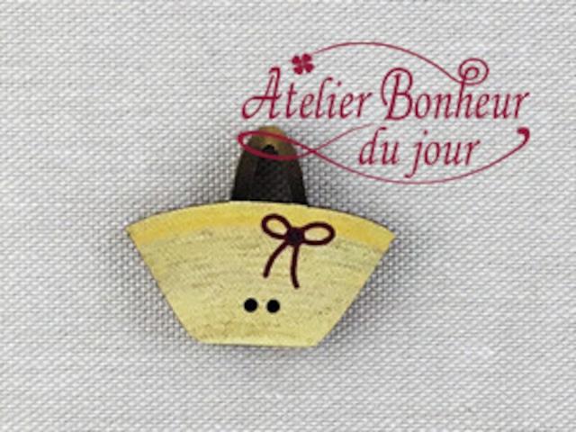フランス製 木製ボタン アトリエ ボヌール ドゥ ジュール 【バッグ 麦わら】
