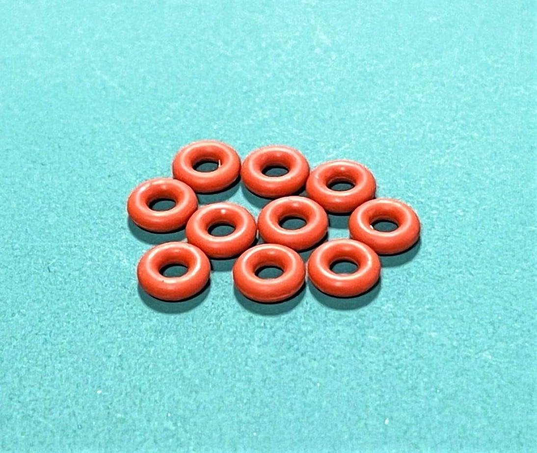 ◆FC震動防止★シリコンOリング  内径2.5mm、リング径1.8mm、外径6.1mm 10個セット 茶色
