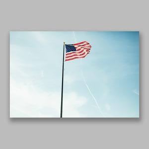 Postcard「Sunset Flag」13cm×18cm Original Print