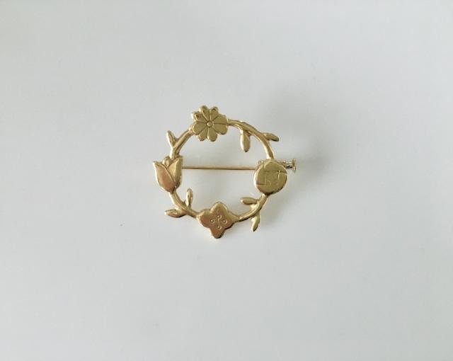 谷内亮太 花の環のブローチS