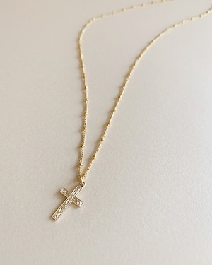 Cross necklace  /   on the beach   OBH-010