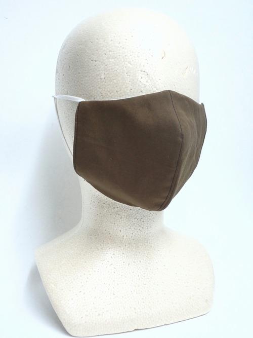冷感 夏用 立体布マスク カーキ