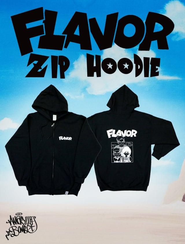 FLAVOR ZIP HOODIE -Black-