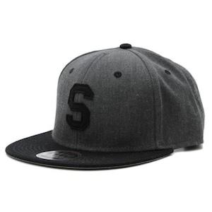 LETTER SNAPBACK CAP #BLACK X HEATHER