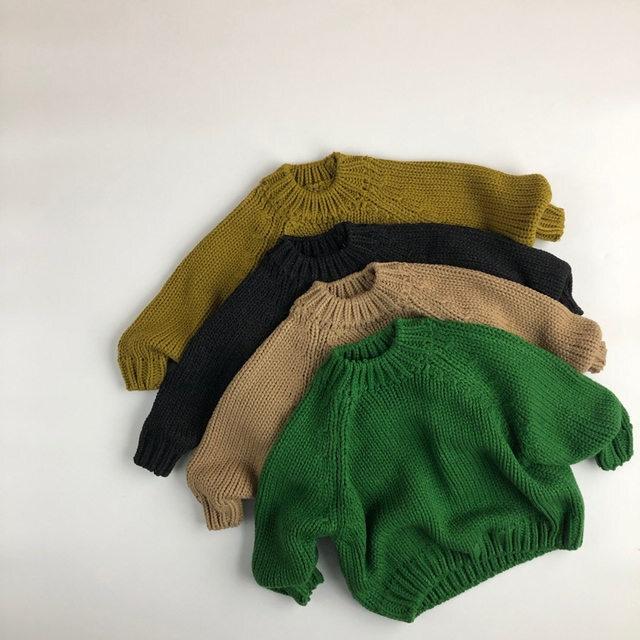 【お取り寄せ】80-130  もこもこセーター ニット キッズ ベビー 赤ちゃん 子供 秋冬