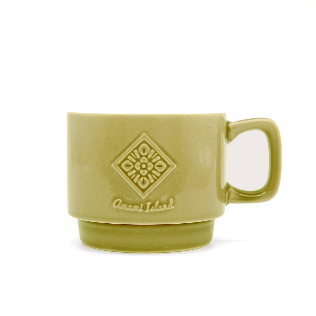 オリジナルマグカップ   オリーブ   紬柄
