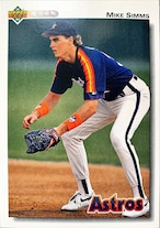 MLBカード 92UPPERDECK Mike Simms #584 ASTROS