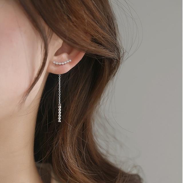 Pendant pierced earrings KRE695