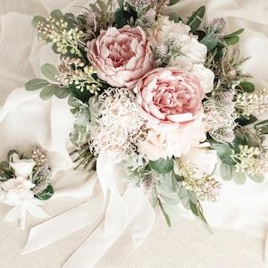 【ご予約品】Peony&Berry Bouquet&Boutonniere