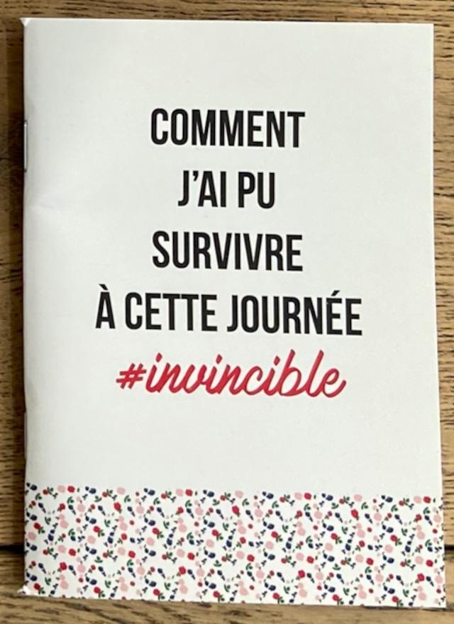 限定1点!フランス小物:ノート『#INVINCIBLE』