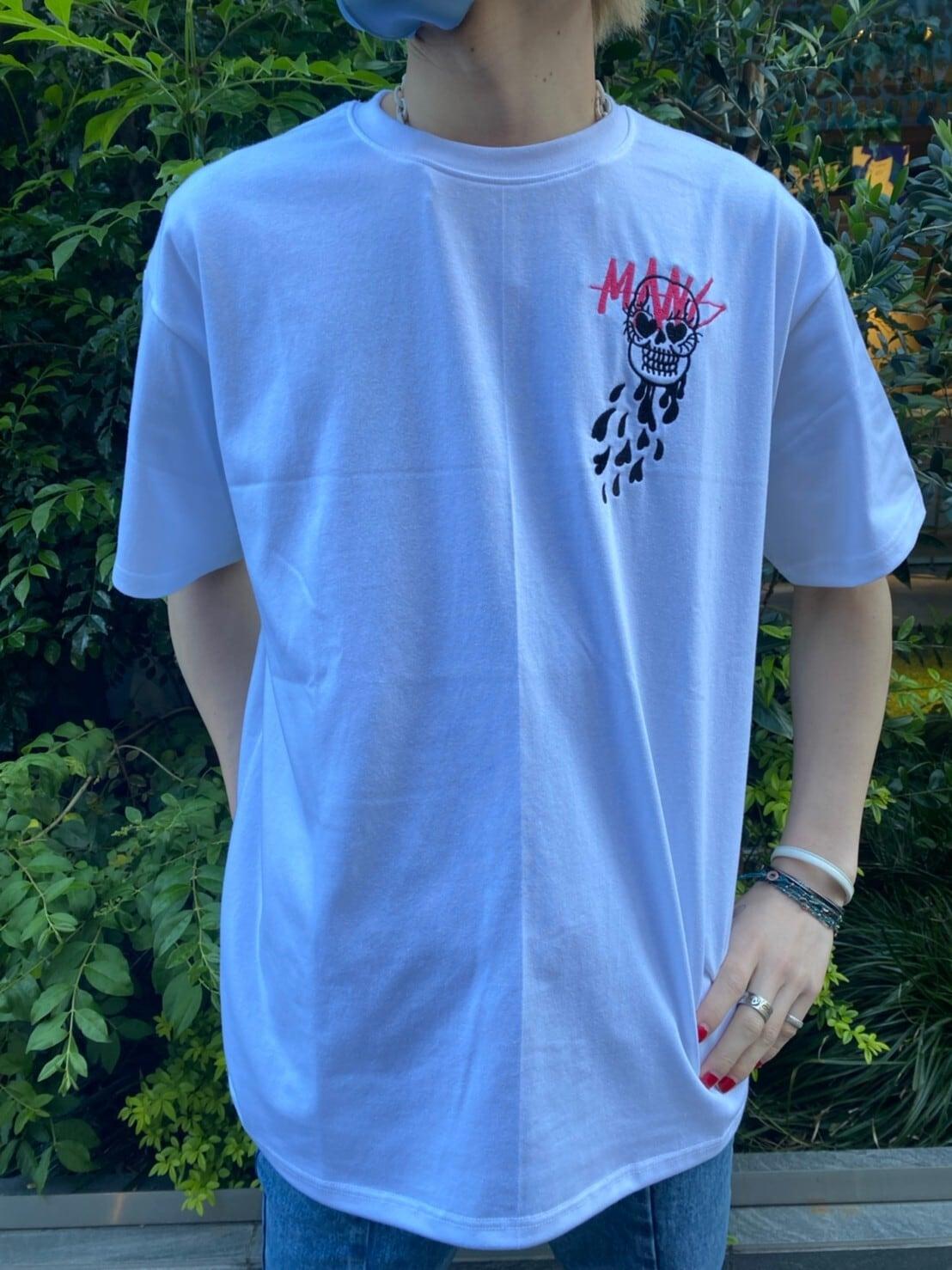 【MAN-G】スカル刺繍Tシャツ