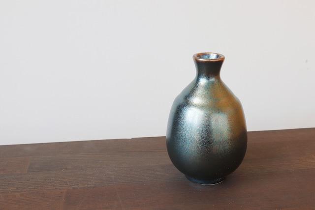 【SP3A15-27】『美濃の匠』『徳利』『ラスター釉黒』 *黒く光る シックな徳利 花瓶 インテリア ギフト おしゃれ