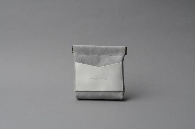 ワンタッチ・コインケース ■ライトグレー・ホワイト■ - メイン画像