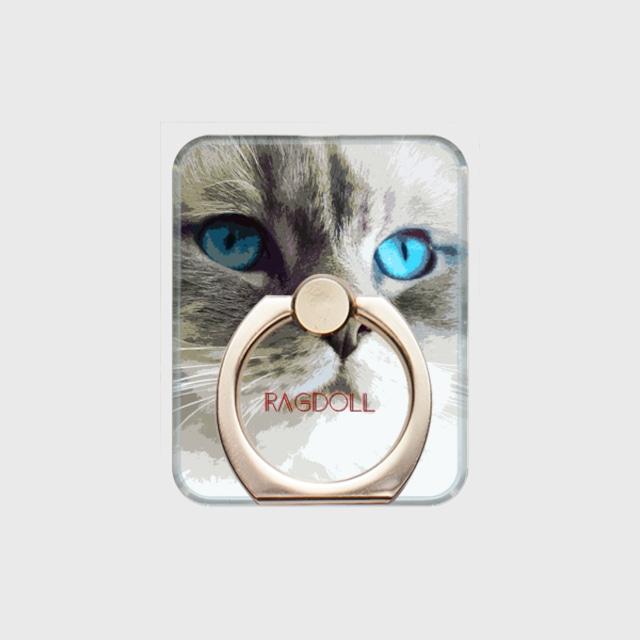 ラグドール おしゃれな猫スマホリング【IMPACT -color- 】