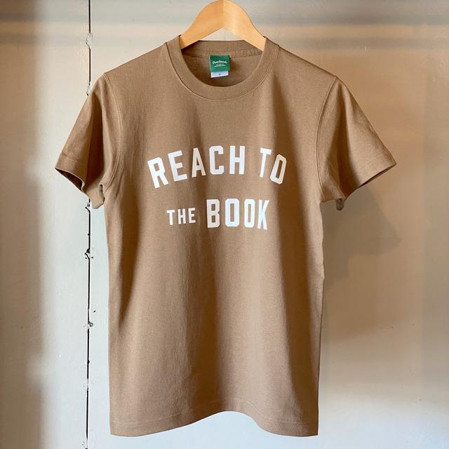 ヘビーウェイトTシャツ / REACH TO THE BOOK / Dark Camel