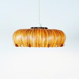 「エリンギ(ゼブラ)」木製ペンダントライト