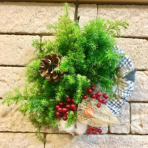 Wreath × vintage fabric
