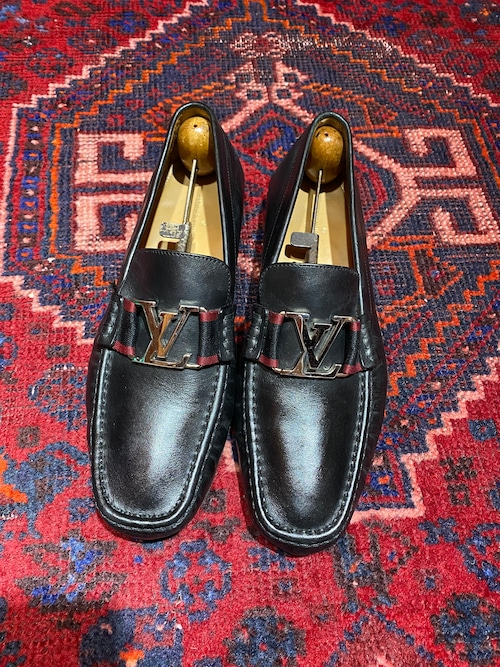 .LOUIS VUITTON LOGO LOAFER FA0117 MADE IN ITALY/ルイヴィトンモンテーニュラインロゴローファー 2000000050201