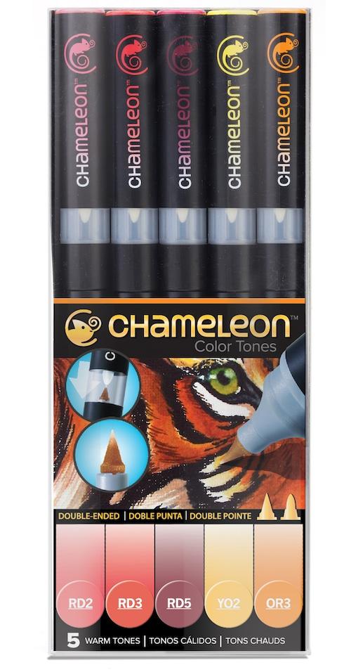Chameleon Pen 5 Pen Warm Set (カメレオンペン 5本入りウォームセット)