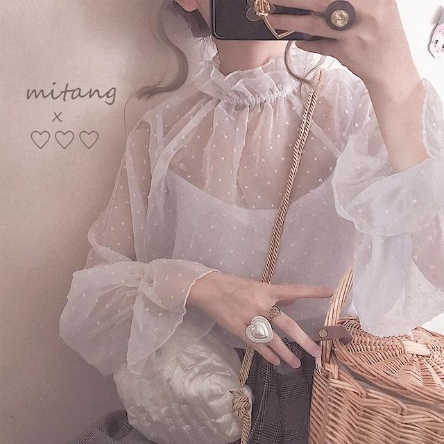 Chiffon blouse white