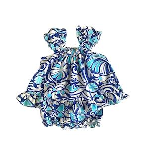 ベビー アロハツーピースドレス  / ブルー