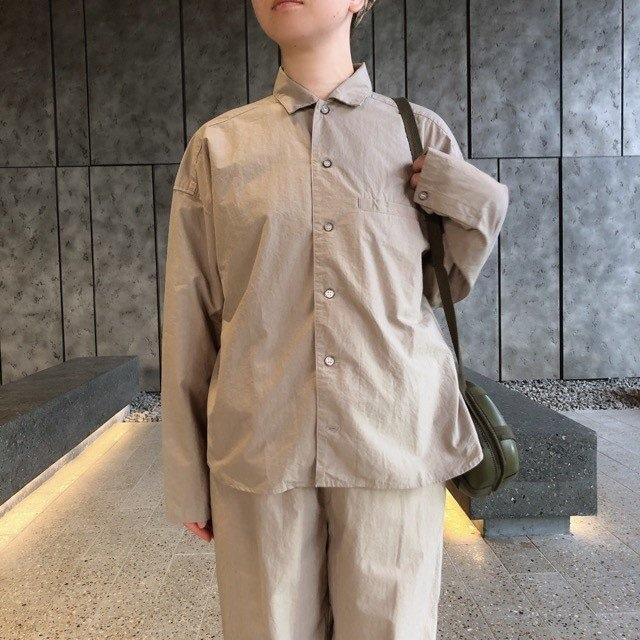 TISSU セットアップパジャマシャツ ベージュ