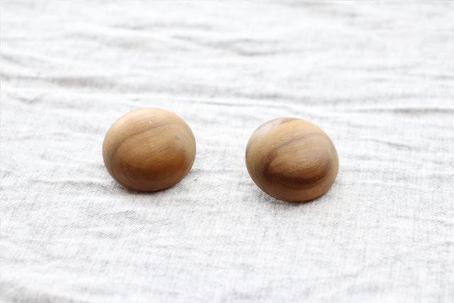 【フランス】木のイヤリング