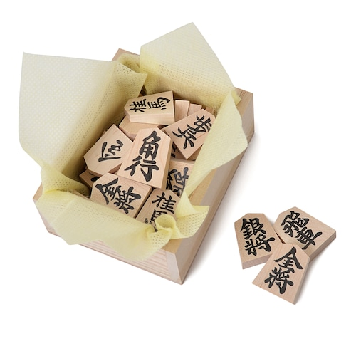 将棋駒(天童産、国産木使用)