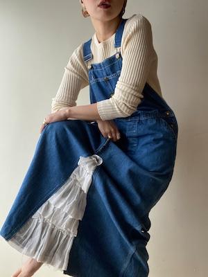 Remake Vintage Denim Overall Skirt