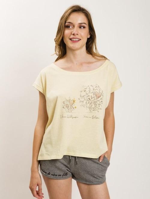 フランス製Tシャツ『L'AMOUR HOLYWOODIEN JAUNE LOOSE』