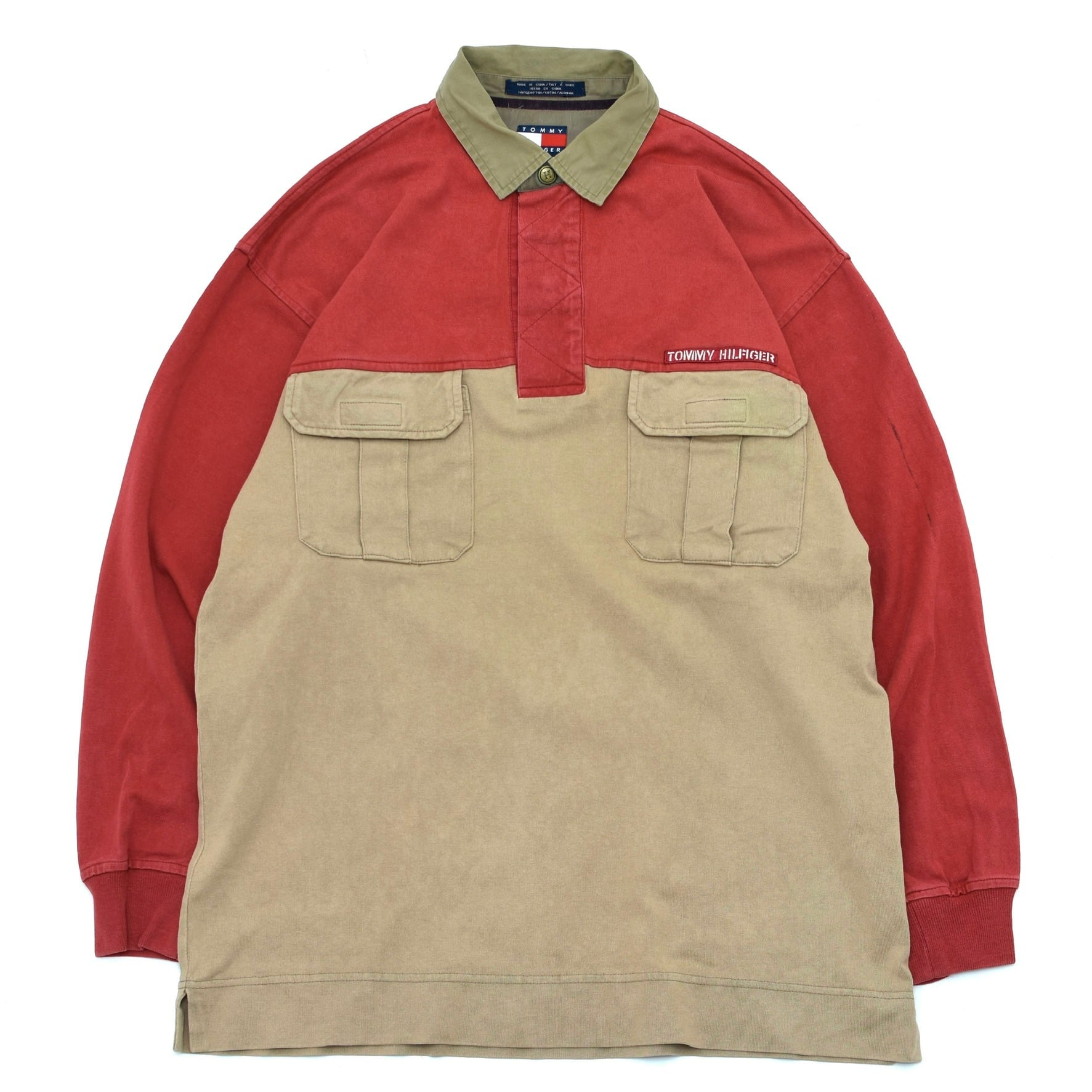 90's OLD TOMMY HILFIGER bicolor polo shirt