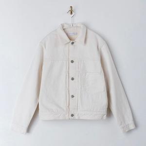 【SETTO】 BER JKT (UNISEX) セット ホワイト デニムジャケット