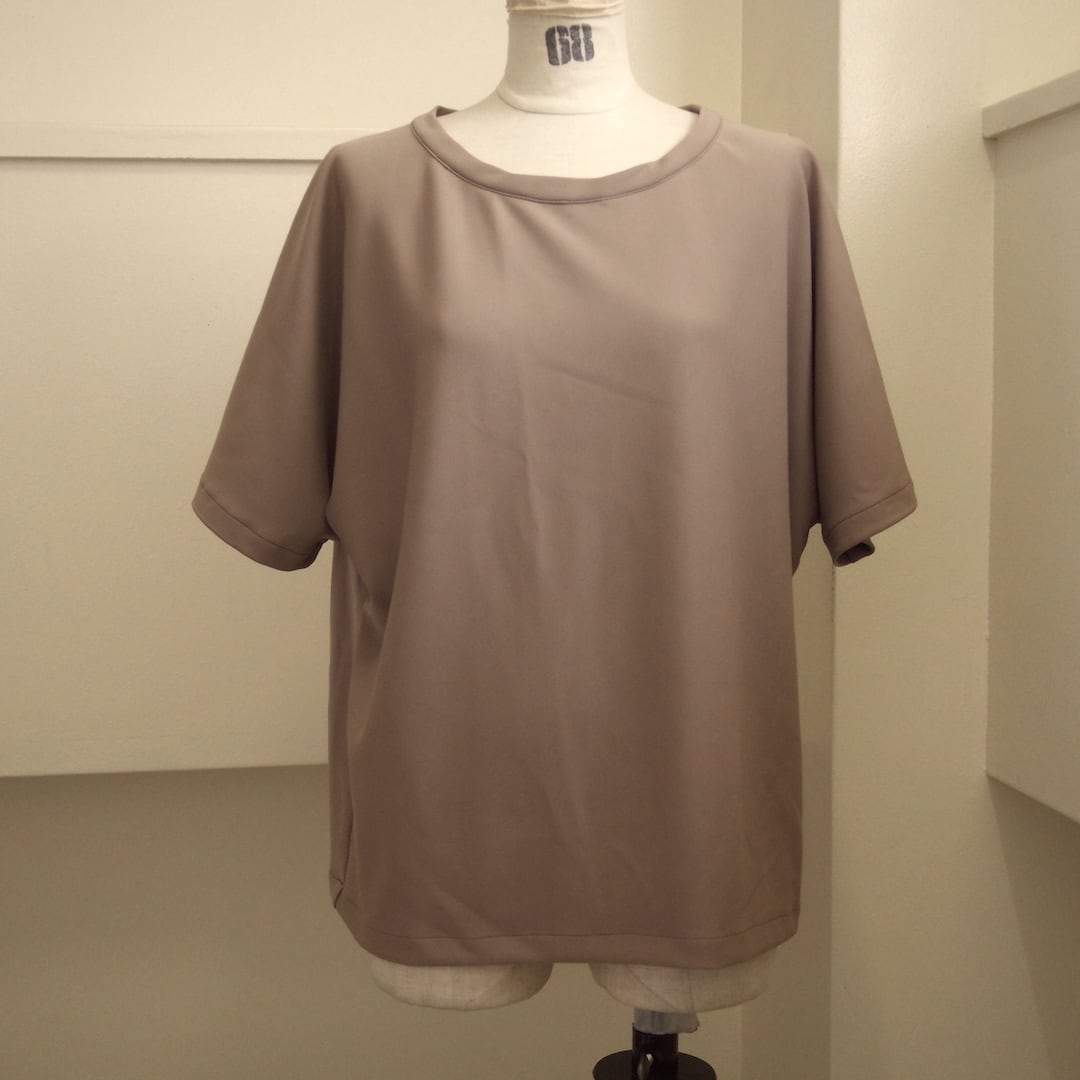 【ethical hippi】wide t-shirt(latte) / 【エシカル ヒッピ】ワイド Tシャツ(ラテ)