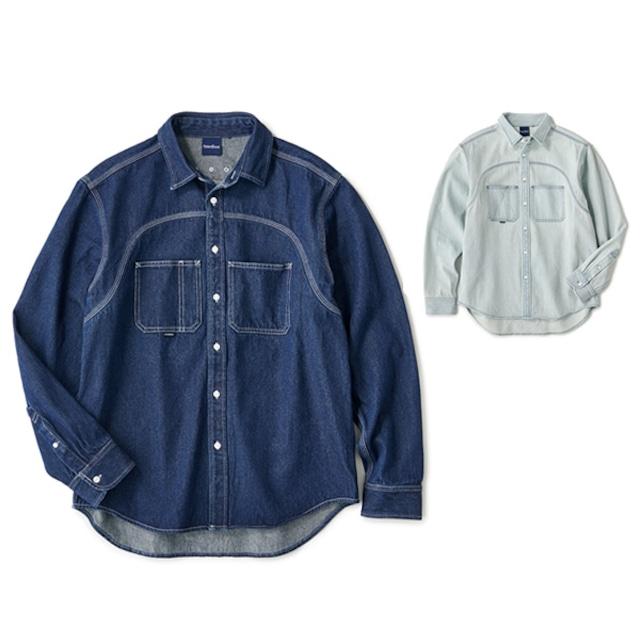 INTERBREED|Washed Indigo Shirt
