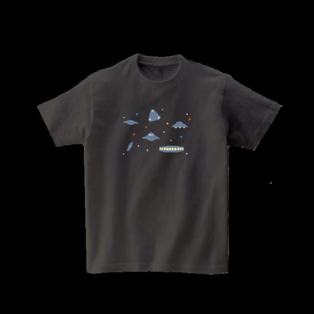 宇宙Tシャツ-UFO(チャコール)