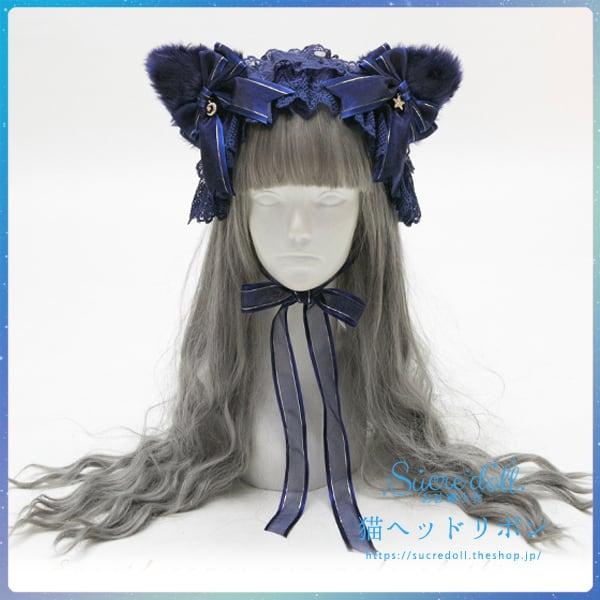 [3color]猫lolitaヘッドリボン #ha02