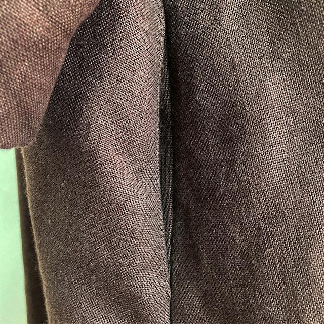 ロングワンピース  レディース コーデ ダブルVネック ゆったり ブラウン 国産リネン使用 ドルマンタイプ
