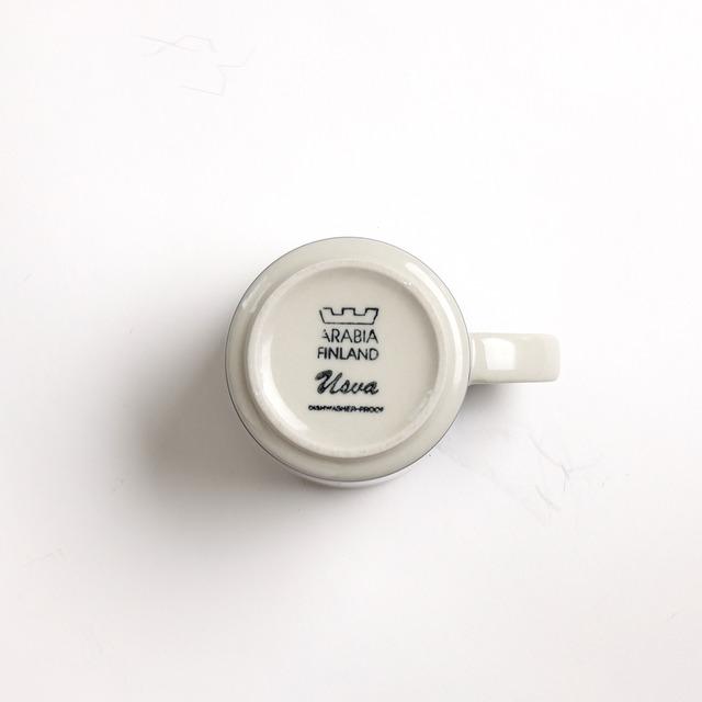 ARABIA アラビア Usva ウスヴァ コーヒーカップ&ソーサー 北欧ヴィンテージ