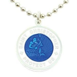 オリジナル ミディアム ロイヤル ブルー / ホワイト セントクリストファー ネックレス:GET BACK NECKLACES ゲット バック ネックレスズ