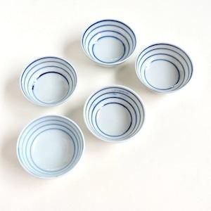 【016】ブルーストライプ茶碗 (一個)大正 / Blue Stripe Cups / Taisho Era