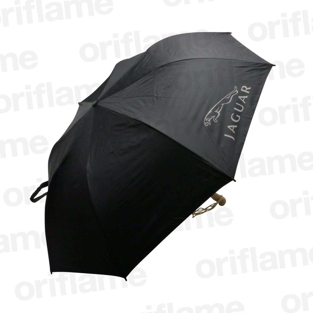 傘・折りたたみ・ジャガー・ウッドグリップ・ブラック