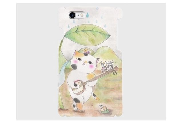 (iPhone用)三味線ネコのスマホケース