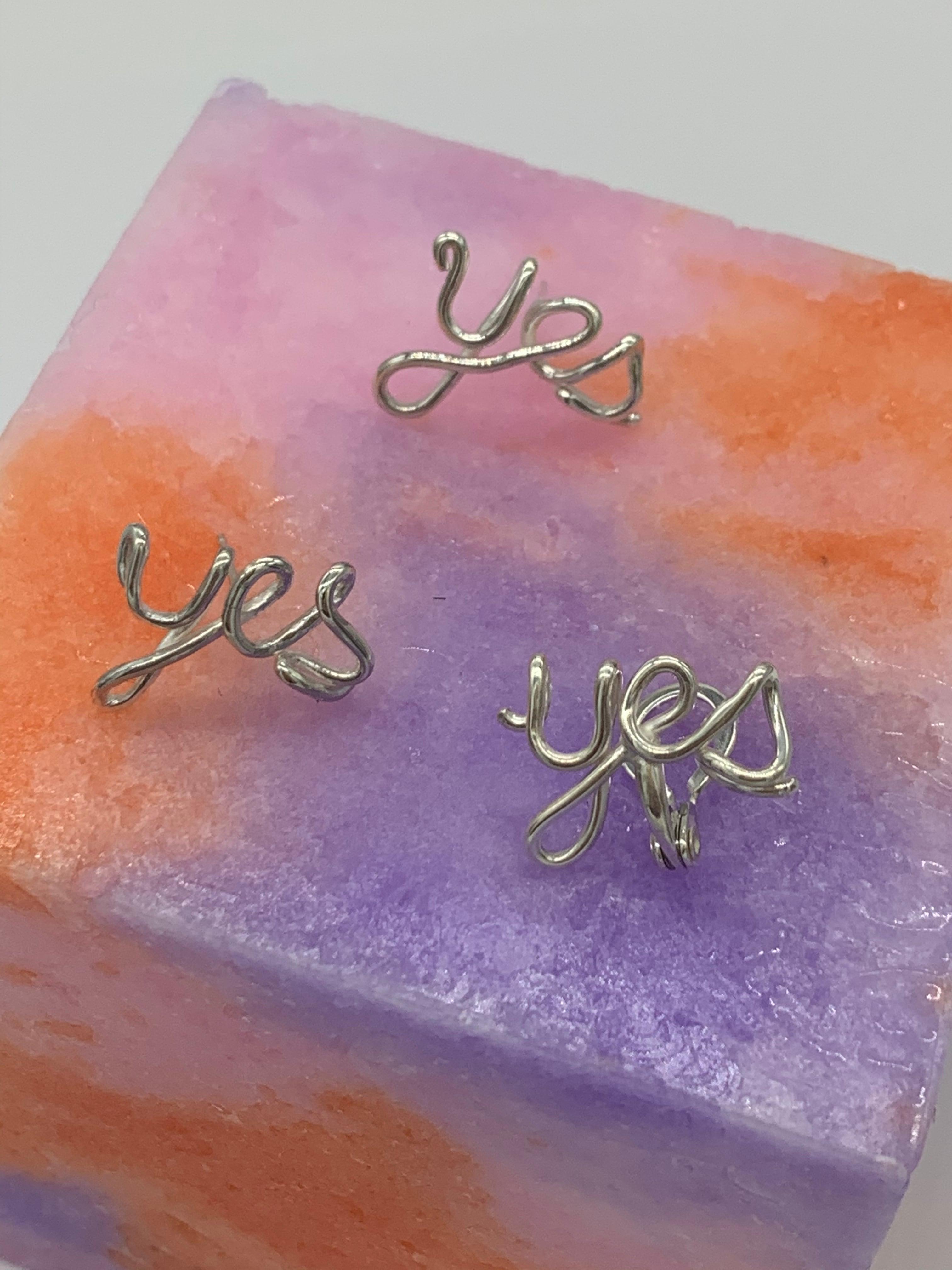 YES earrings