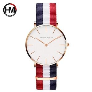 ジャパンクォーツムーブメントアナログファッションカジュアルウォッチナイロンストラップ腕時計ブランド女性用防水腕時計CB36-F4