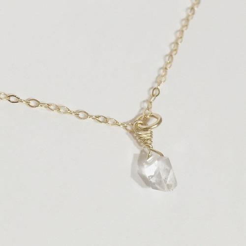 ***NEW*** ハーキマーダイヤモンドの14Kgfネックレス