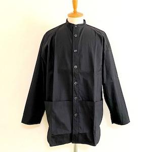 Gristone-W Cotton×Nylon Gabardine Gardening Coat Black